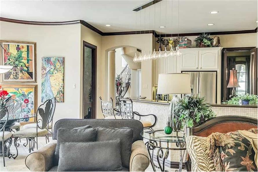 Family Room of this 3-Bedroom,3288 Sq Ft Plan -195-1287