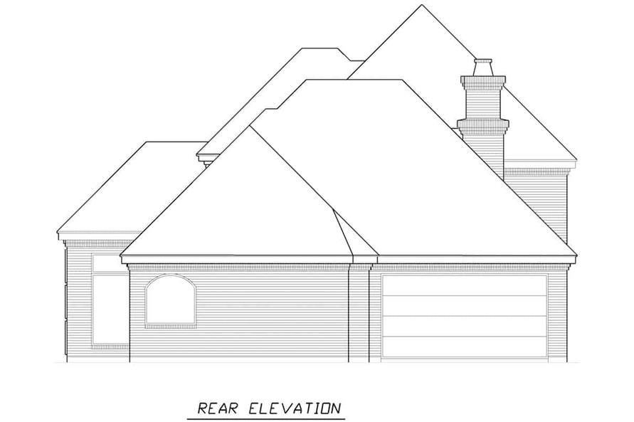 Home Plan Rear Elevation of this 3-Bedroom,3288 Sq Ft Plan -195-1287