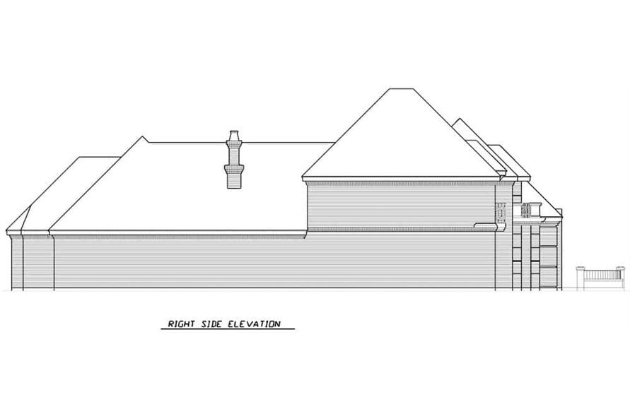 Home Plan Right Elevation of this 3-Bedroom,3288 Sq Ft Plan -195-1287