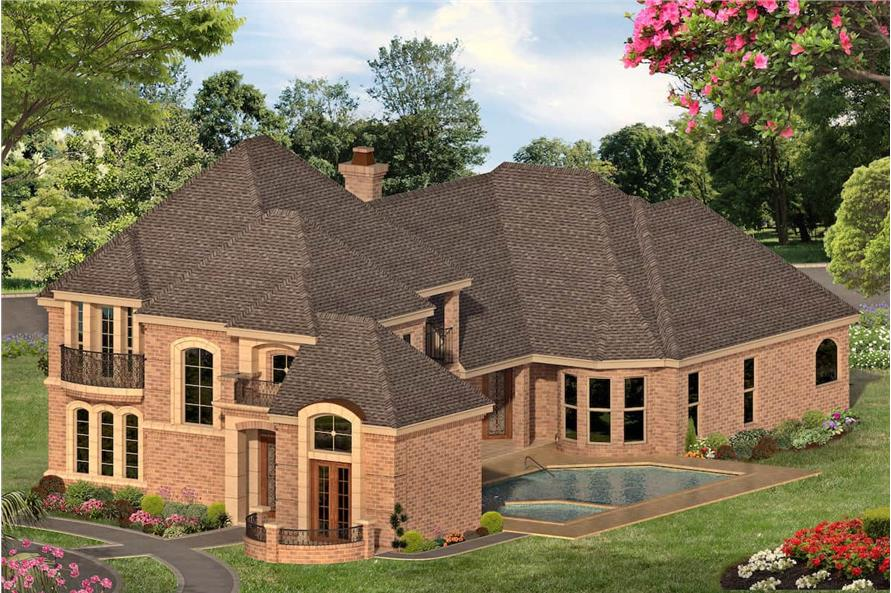 Side View of this 3-Bedroom,3288 Sq Ft Plan -195-1287