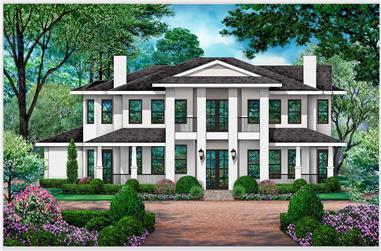4-Bedroom, 3309 Sq Ft Luxury Home Plan - 195-1288 - Main Exterior