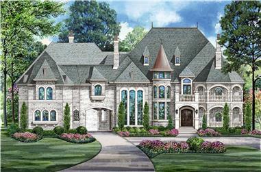 5-Bedroom, 15658 Sq Ft Luxury Home - Plan #195-1290 - Main Exterior