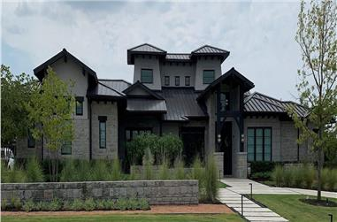 4–5-Bedroom, 6083 Sq Ft Luxury House - Plan #195-1298 - Front Exterior