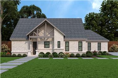 3-Bedroom, 2556 Sq Ft Ranch House - Plan #195-1303 - Front Exterior