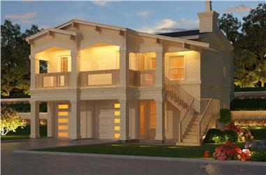 3-Bedroom, 2159 Sq Ft Contemporary Home - Plan #195-1305 - Main Exterior