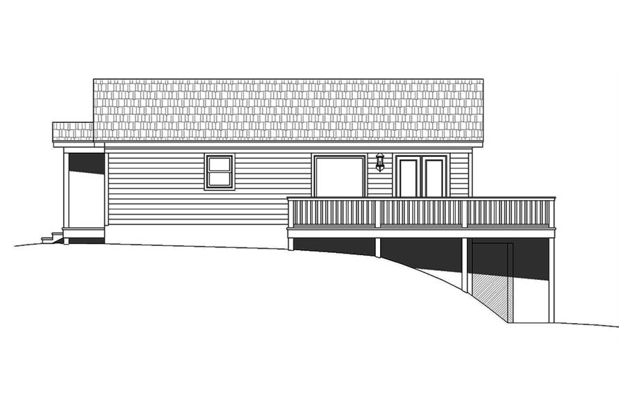 Home Plan Left Elevation of this 2-Bedroom,1557 Sq Ft Plan -196-1000