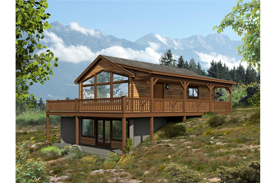 2-Bedroom, 1557 Sq Ft Vacation Homes Home Plan - 196-1000 - Main Exterior
