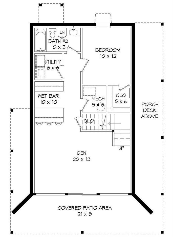 Plan1961001image 1 2 2017 016 1 684 2 Bedrm 765 Sq Ft Cottage House Plan 196 1001 On How Much Does