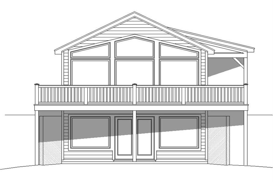 Home Plan Front Elevation of this 1-Bedroom,765 Sq Ft Plan -196-1001