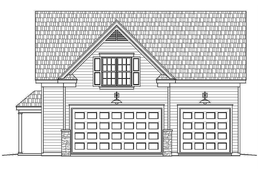 Home Plan Front Elevation of this 1-Bedroom,907 Sq Ft Plan -196-1002