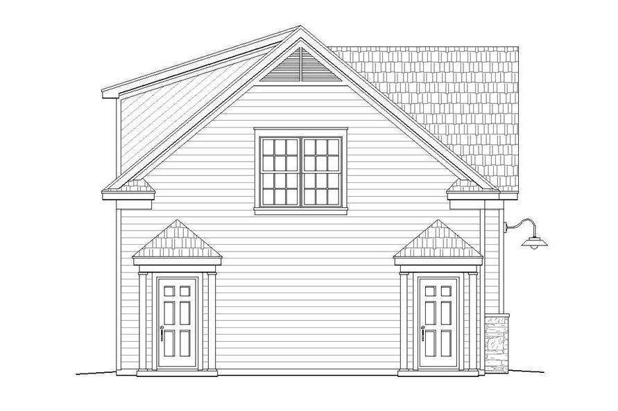 Home Plan Left Elevation of this 1-Bedroom,907 Sq Ft Plan -196-1002