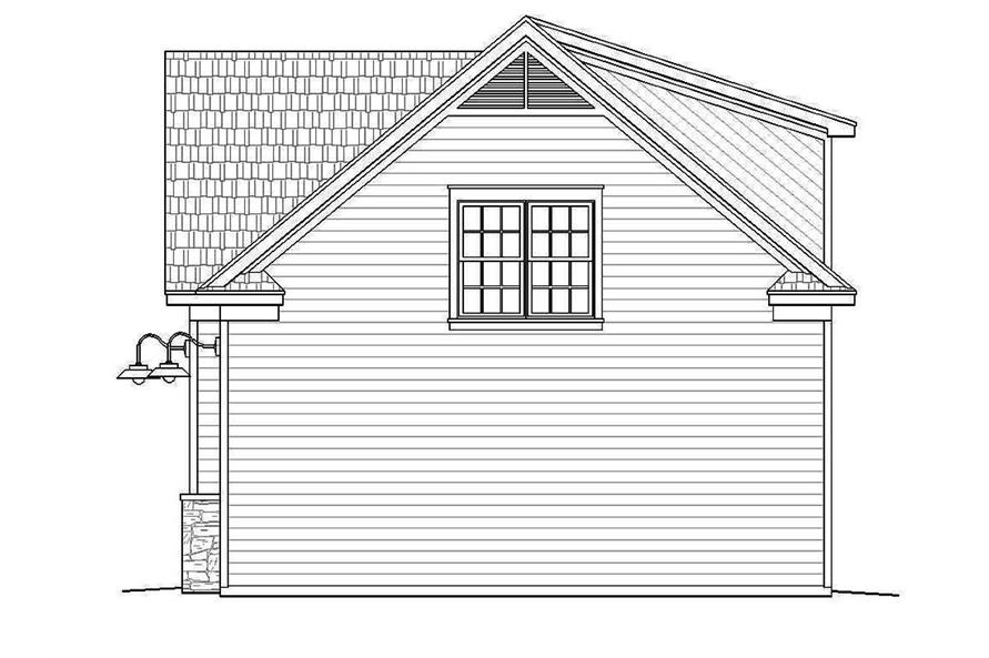Home Plan Right Elevation of this 1-Bedroom,907 Sq Ft Plan -196-1002
