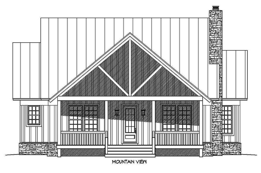 Home Plan Front Elevation of this 3-Bedroom,1972 Sq Ft Plan -196-1009