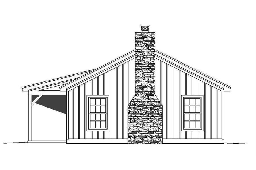 196-1010: Home Plan Right Elevation