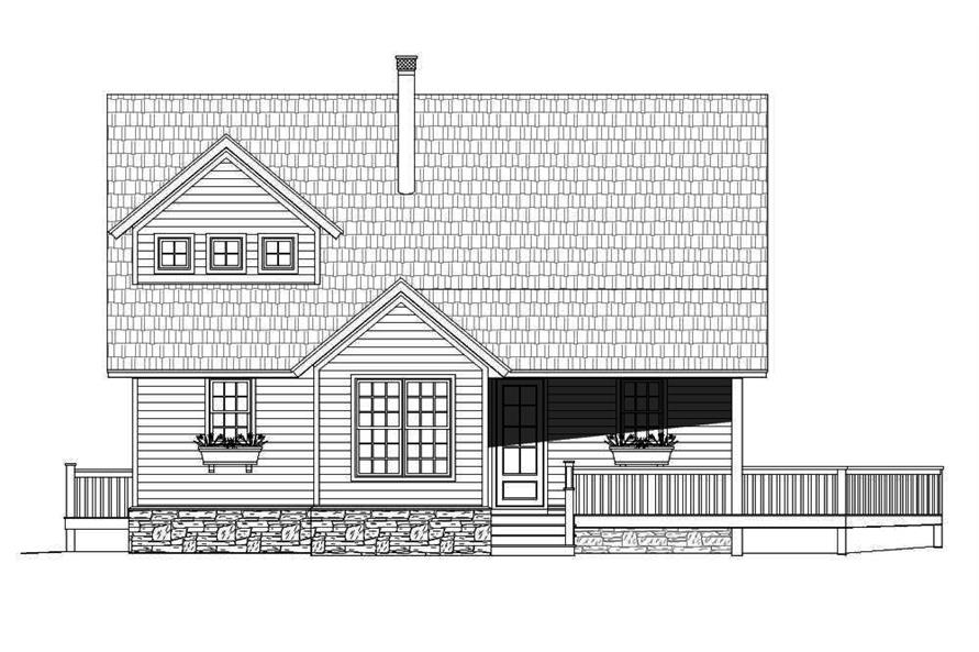 Home Plan Front Elevation of this 3-Bedroom,1872 Sq Ft Plan -196-1012