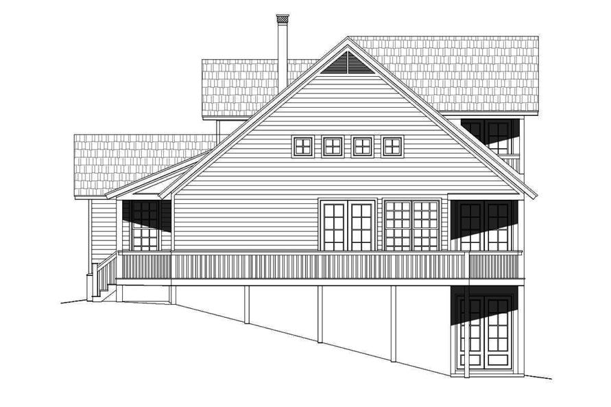 Home Plan Left Elevation of this 3-Bedroom,1872 Sq Ft Plan -196-1012