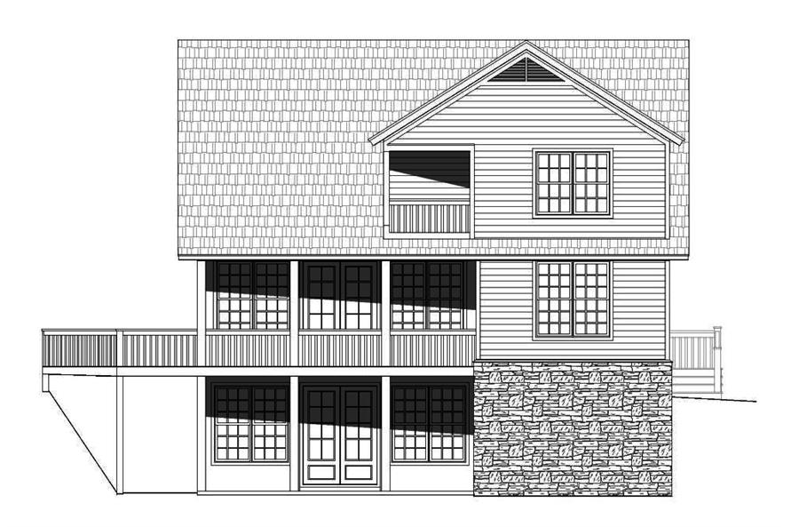 Home Plan Rear Elevation of this 3-Bedroom,1872 Sq Ft Plan -196-1012