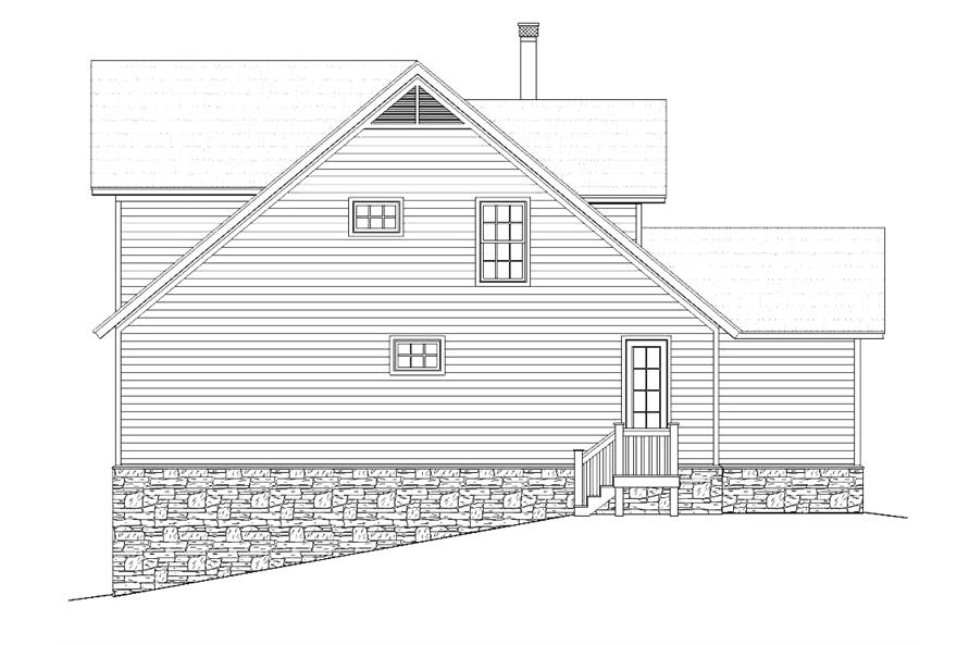 Home Plan Right Elevation of this 3-Bedroom,1872 Sq Ft Plan -196-1012