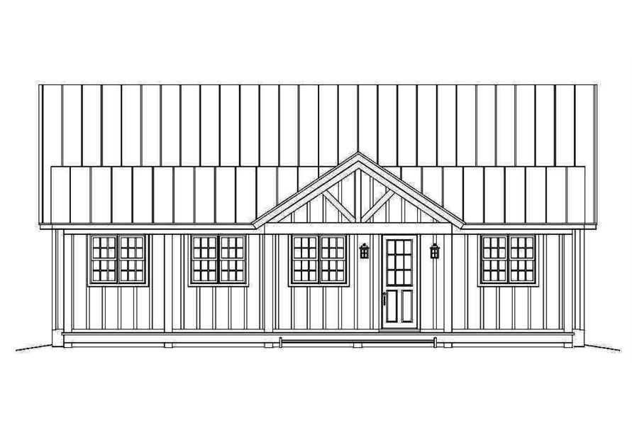 Home Plan Front Elevation of this 2-Bedroom,2033 Sq Ft Plan -196-1013