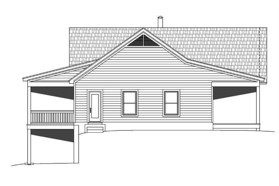 Home Plan Left Elevation of this 2-Bedroom,1500 Sq Ft Plan -196-1014