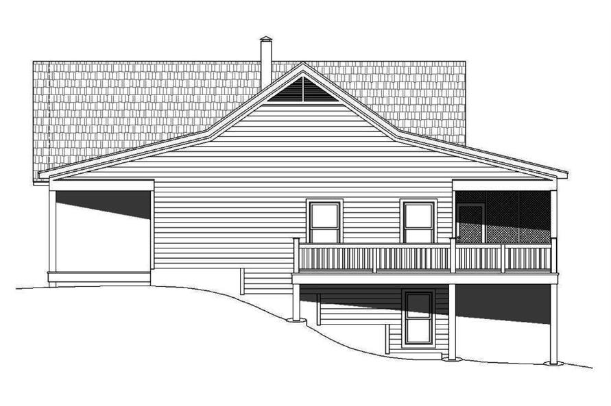 Home Plan Right Elevation of this 2-Bedroom,1500 Sq Ft Plan -196-1014