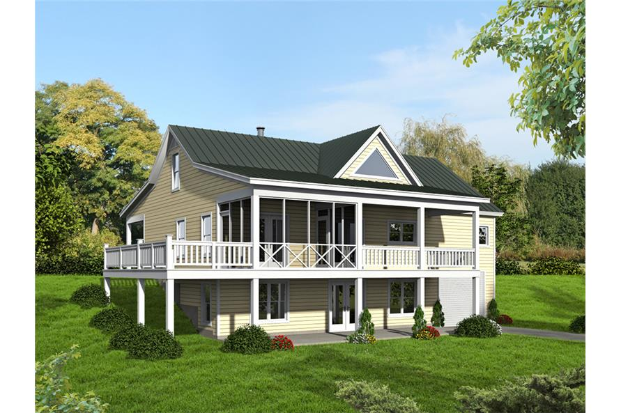 Rear View of this 2-Bedroom,1500 Sq Ft Plan -1500