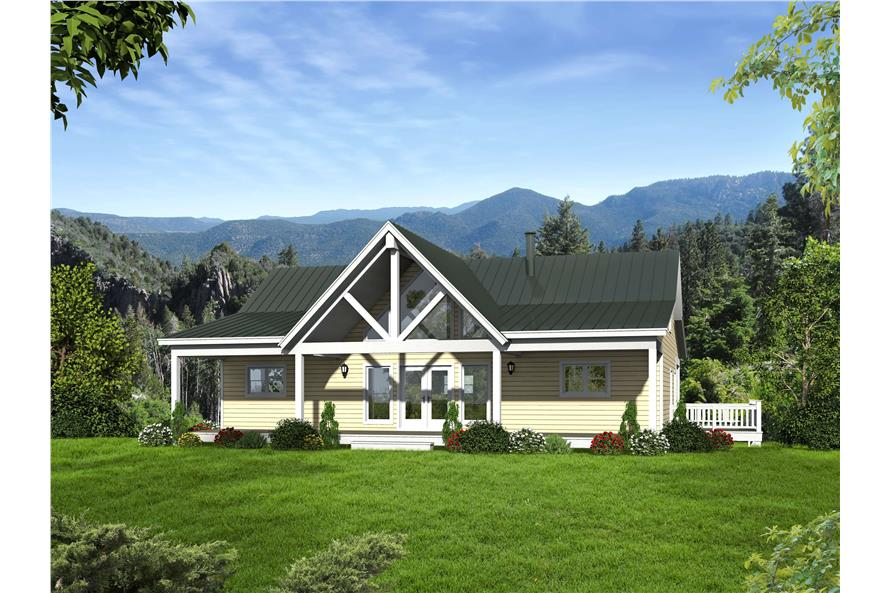 2-Bedroom, 1500 Sq Ft Craftsman Home Plan - 196-1014 - Main Exterior
