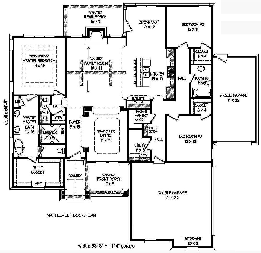 3 bedrm 2100 sq ft craftsman house plan 196 1017 for 2100 square foot house plans