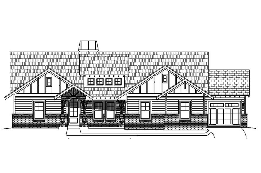 Home Plan Front Elevation of this 3-Bedroom,2300 Sq Ft Plan -196-1018