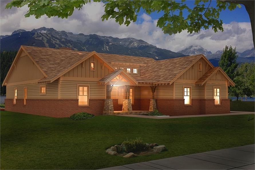 Home at Night of this 3-Bedroom,2300 Sq Ft Plan -2300