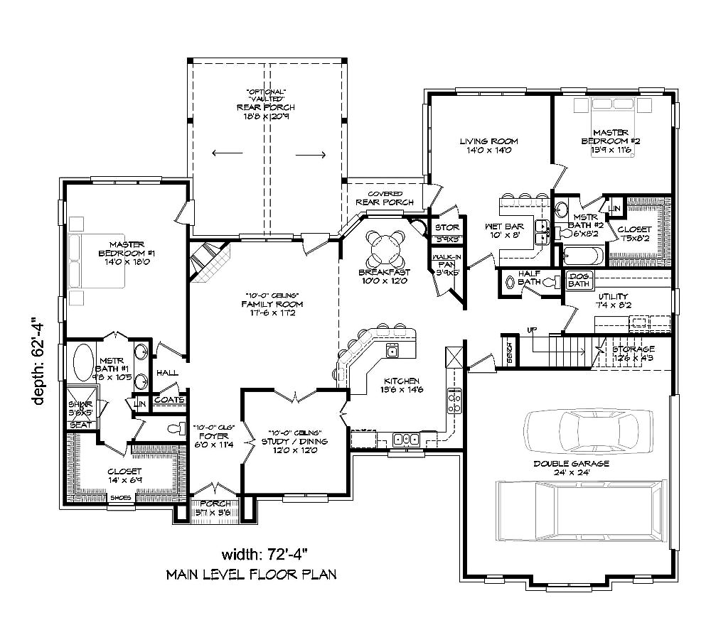 4 bedrm 3500 sq ft tudor house plan 196 1021 for 3500 sq ft house floor plans