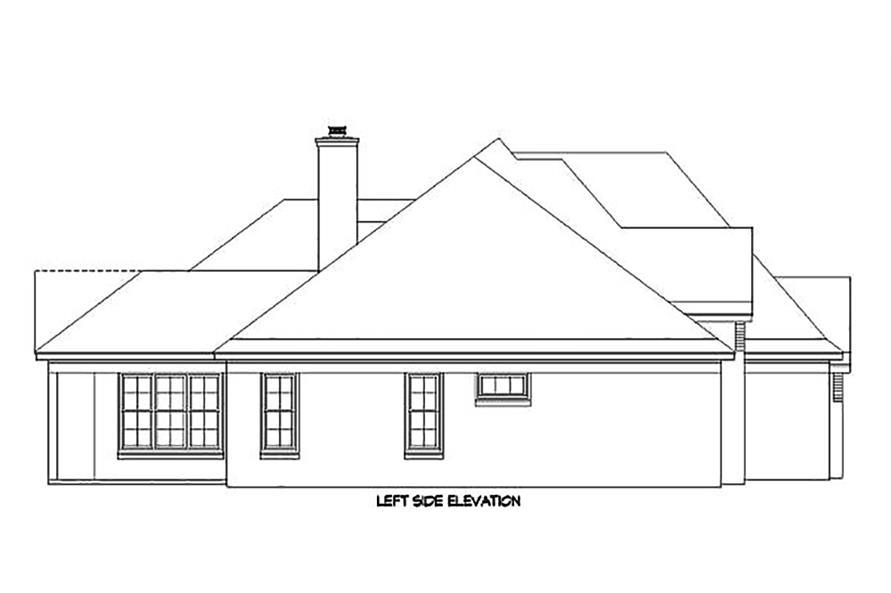 196-1021: Home Plan Left Elevation