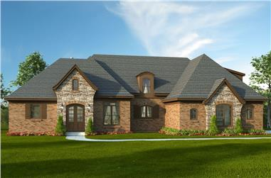 4-Bedroom, 3500 Sq Ft Tudor Home Plan - 196-1021 - Main Exterior