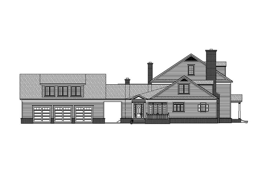 Home Plan Left Elevation of this 6-Bedroom,6858 Sq Ft Plan -196-1023