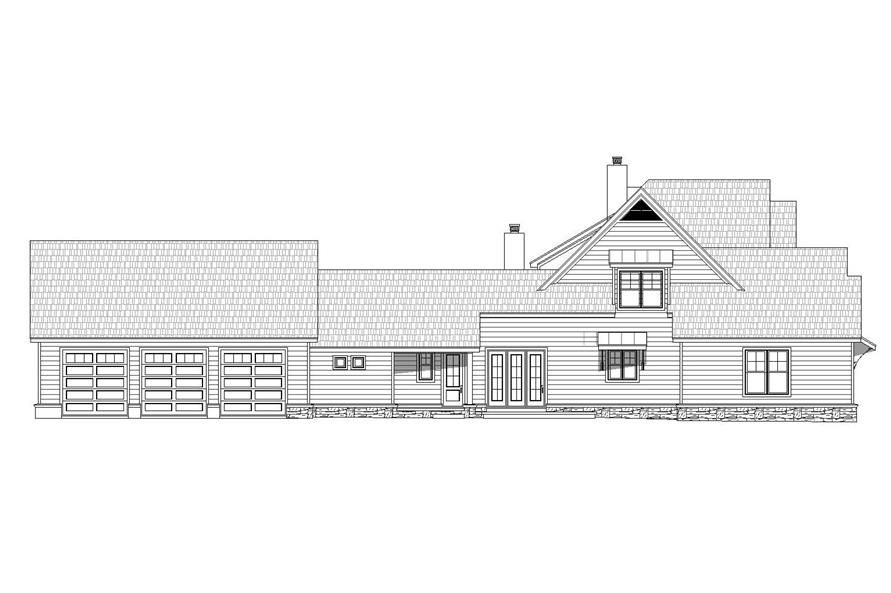 Home Plan Left Elevation of this 5-Bedroom,5371 Sq Ft Plan -196-1029