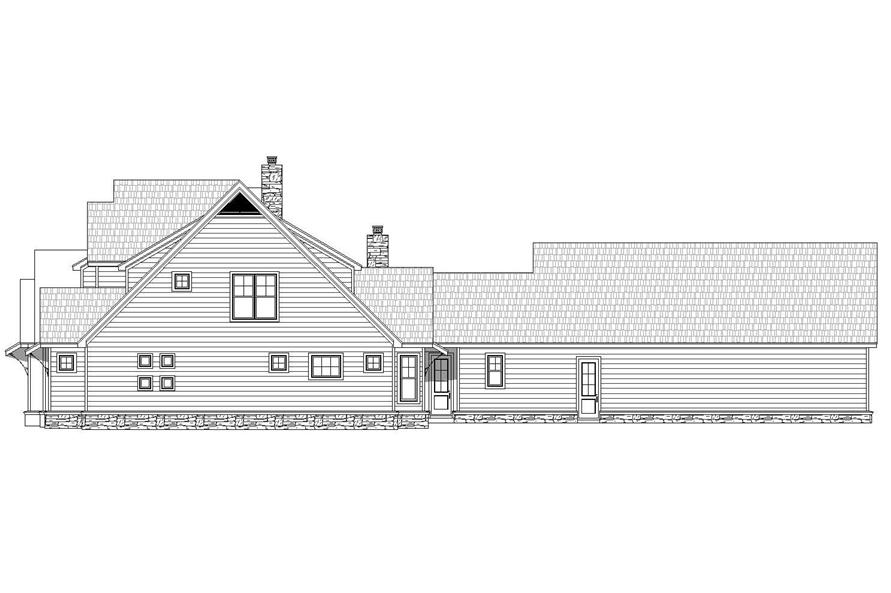 Home Plan Right Elevation of this 5-Bedroom,5371 Sq Ft Plan -196-1029