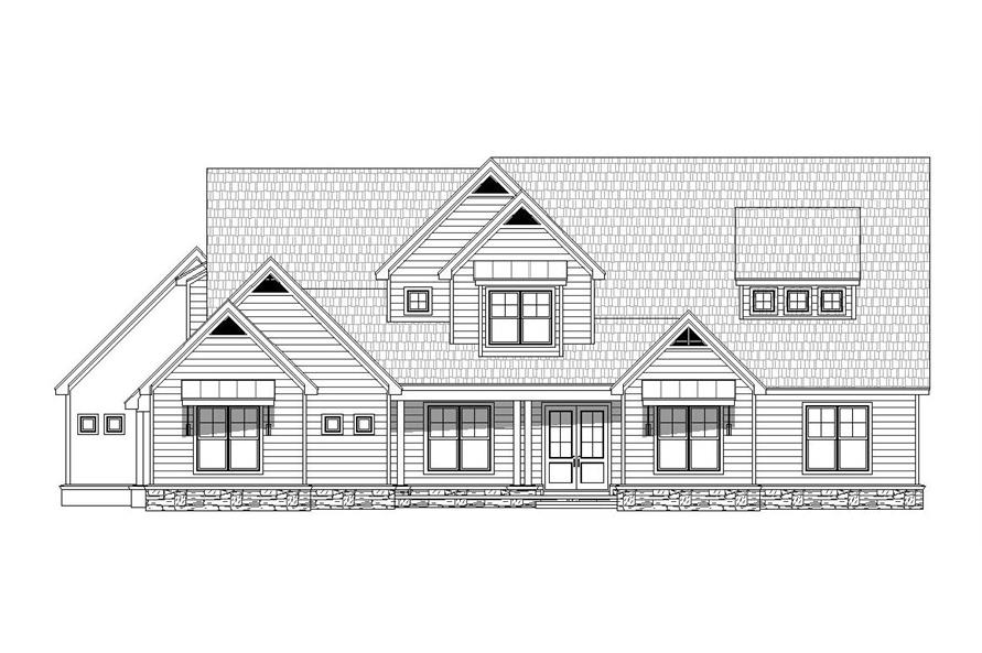 Home Plan Front Elevation of this 5-Bedroom,5371 Sq Ft Plan -196-1029