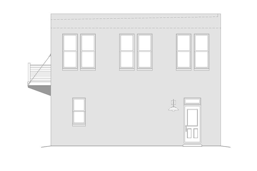 Home Plan Right Elevation of this 2-Bedroom,820 Sq Ft Plan -196-1030