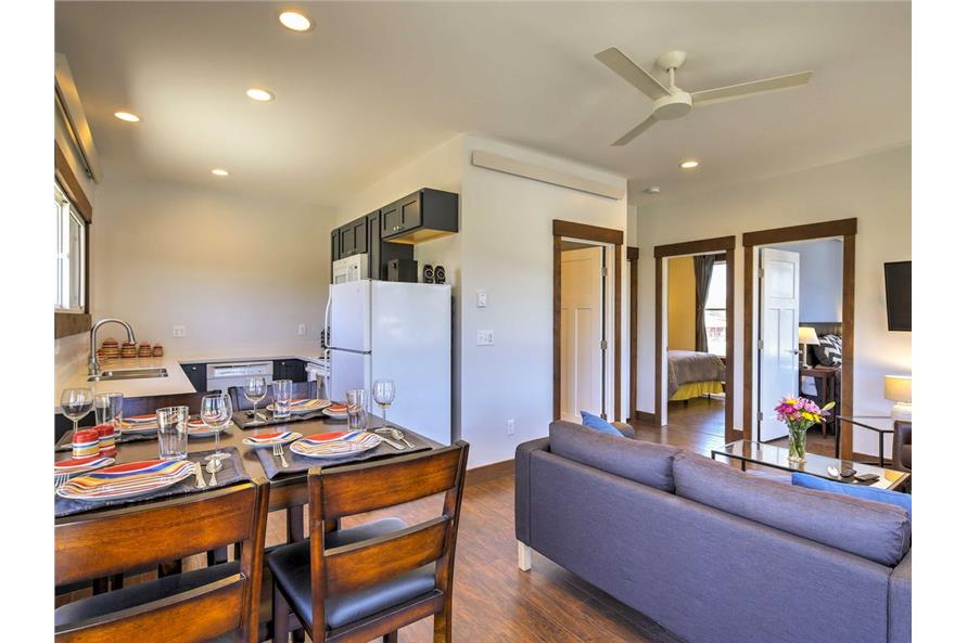 Great Room of this 2-Bedroom,820 Sq Ft Plan -820