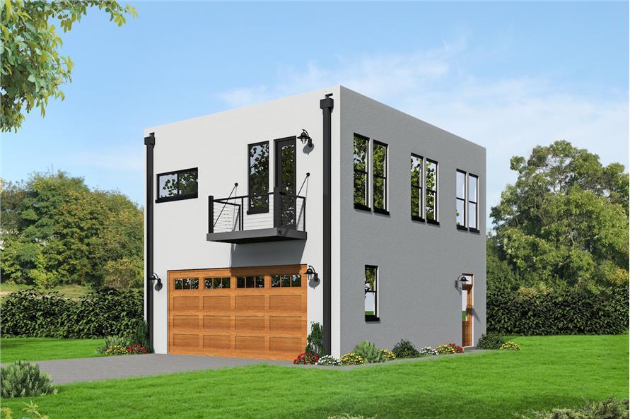 2 Bedrm, 820 Sq Ft Garage w/Apartments House - Plan #196-1030