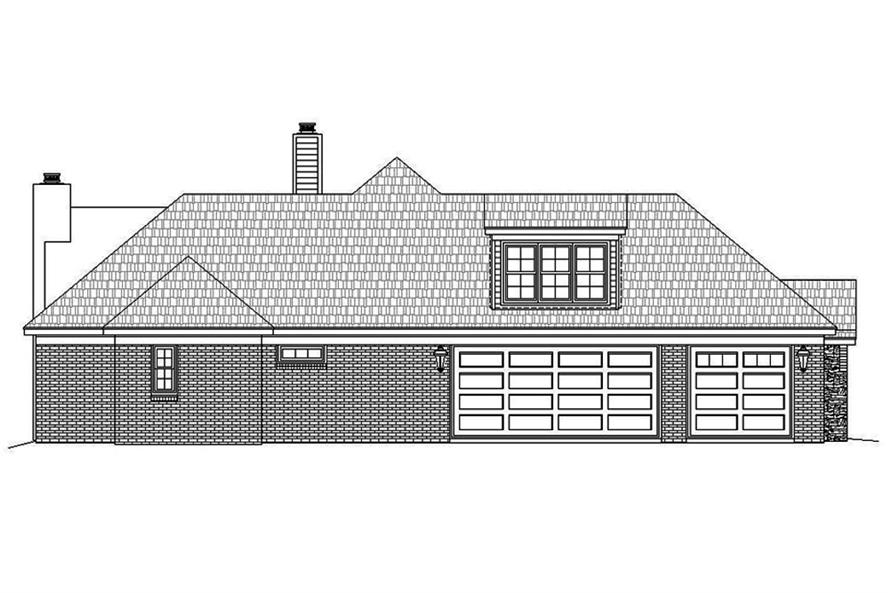 Home Plan Left Elevation of this 3-Bedroom,3275 Sq Ft Plan -196-1039