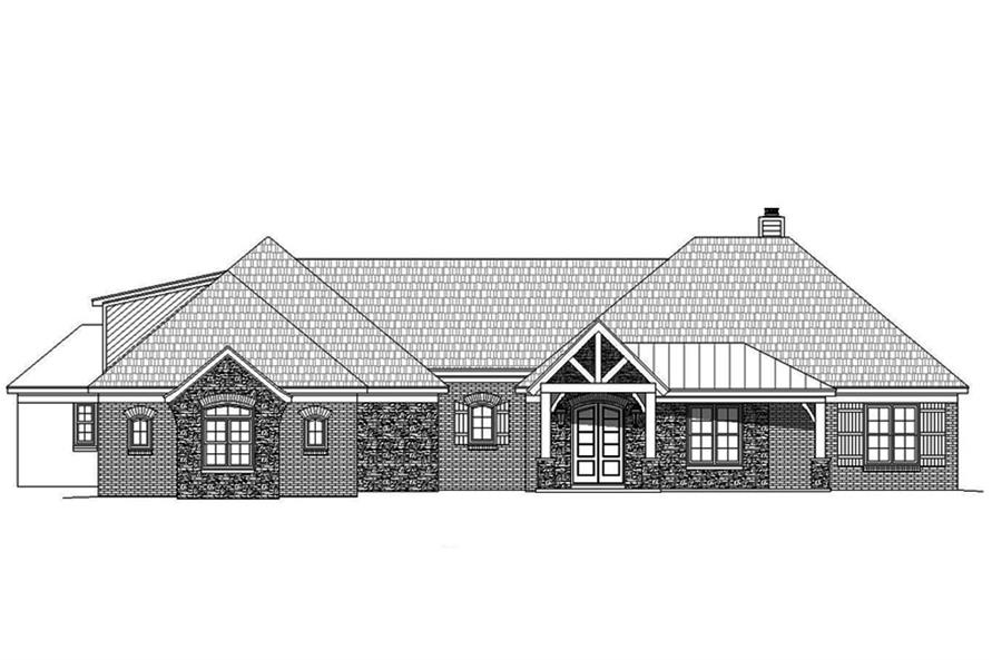 Home Plan Front Elevation of this 3-Bedroom,3275 Sq Ft Plan -196-1039