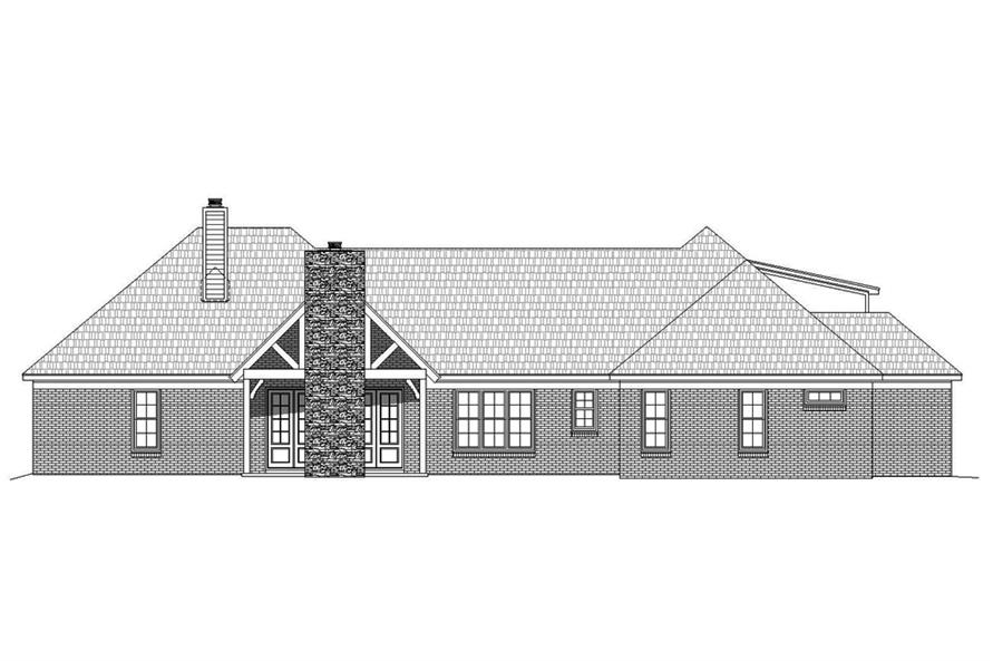 Home Plan Rear Elevation of this 3-Bedroom,3275 Sq Ft Plan -196-1039