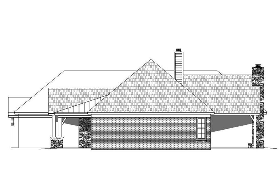 Home Plan Right Elevation of this 3-Bedroom,3275 Sq Ft Plan -196-1039