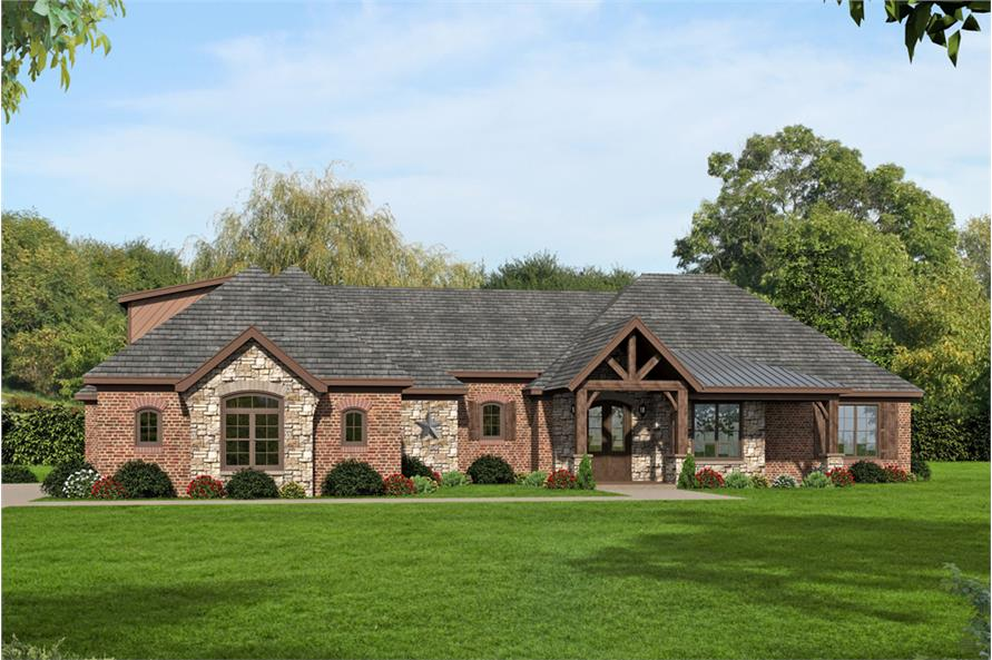 3-4-Bedroom, 3275 Sq Ft Ranch House - Plan #196-1039 - Front Exterior