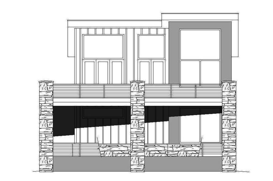 Home Plan Right Elevation of this 1-Bedroom,1319 Sq Ft Plan -196-1044