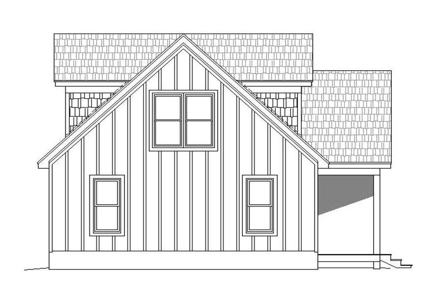 Home Plan Left Elevation of this 3-Bedroom,1400 Sq Ft Plan -196-1045
