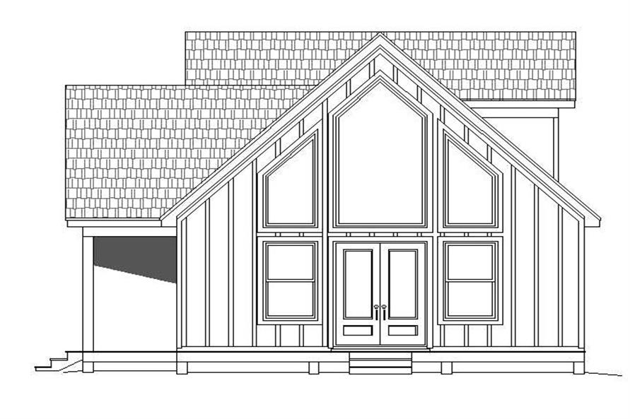 Home Plan Right Elevation of this 3-Bedroom,1400 Sq Ft Plan -196-1045
