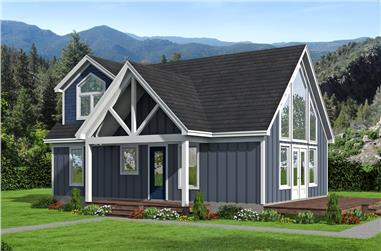 3-Bedroom, 1400 Sq Ft Cottage House - Plan #196-1045 - Front Exterior