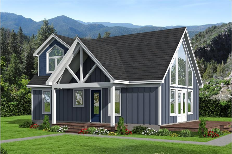 3-Bedroom, 1400 Sq Ft Cottage House Plan - 196-1045 - Front Exterior
